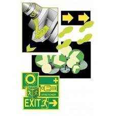 Fluoriserende Verf, Stickers en Pictogrammen